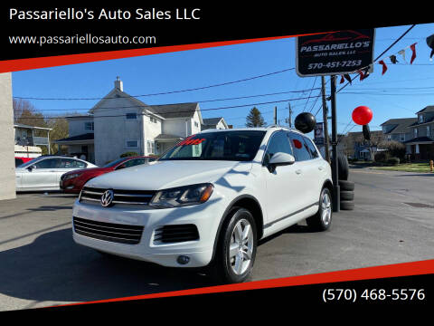 2012 Volkswagen Touareg for sale at Passariello's Auto Sales LLC in Old Forge PA
