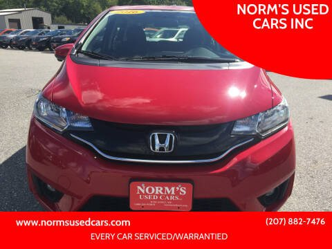 2016 Honda Fit for sale at NORM'S USED CARS INC in Wiscasset ME