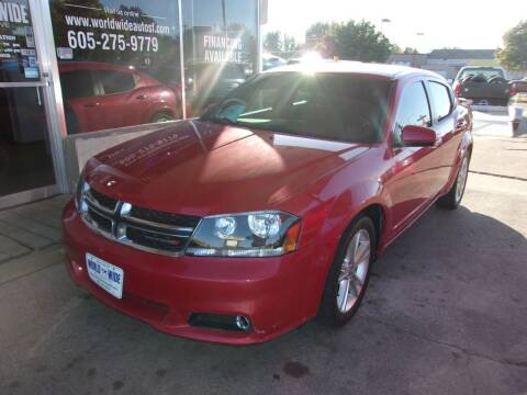 2012 Dodge Avenger for sale at World Wide Automotive in Sioux Falls SD