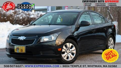 2013 Chevrolet Cruze for sale at Auto Sales Express in Whitman MA