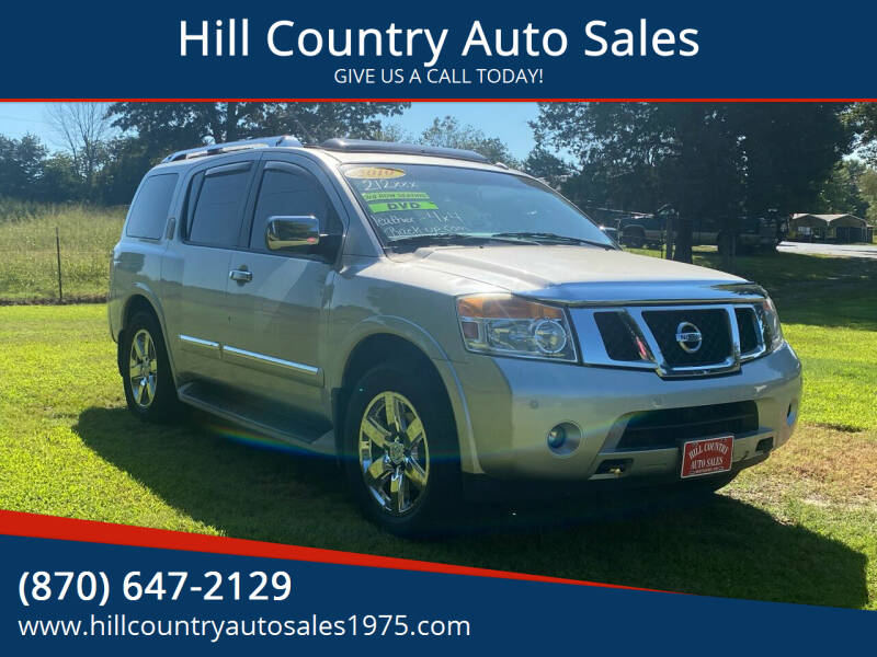 2010 Nissan Armada for sale at Hill Country Auto Sales in Maynard AR
