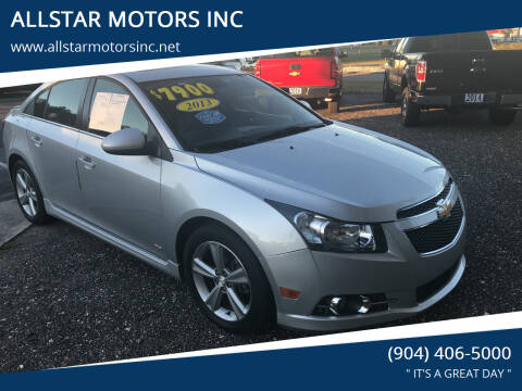 2013 Chevrolet Cruze for sale at ALLSTAR MOTORS INC in Middleburg FL