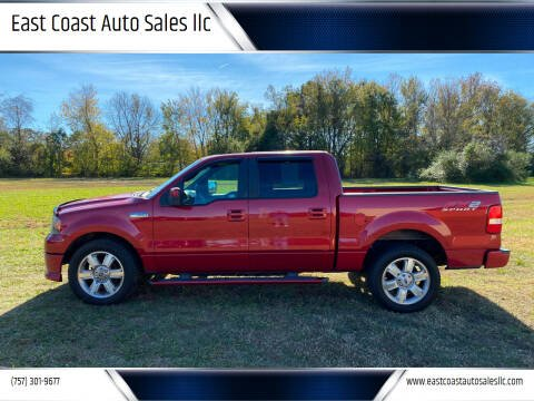 2007 Ford F-150 for sale at East Coast Auto Sales llc in Virginia Beach VA