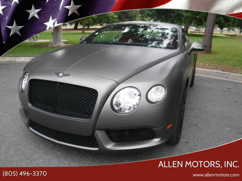 2013 Bentley Continental for sale at Allen Motors, Inc. in Thousand Oaks CA
