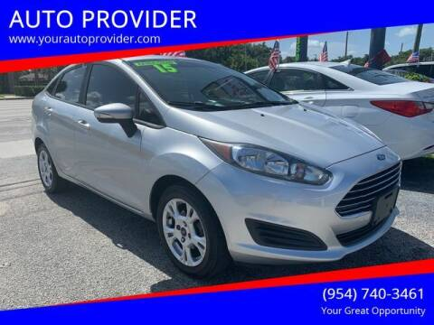 2015 Ford Fiesta for sale at AUTO PROVIDER in Fort Lauderdale FL