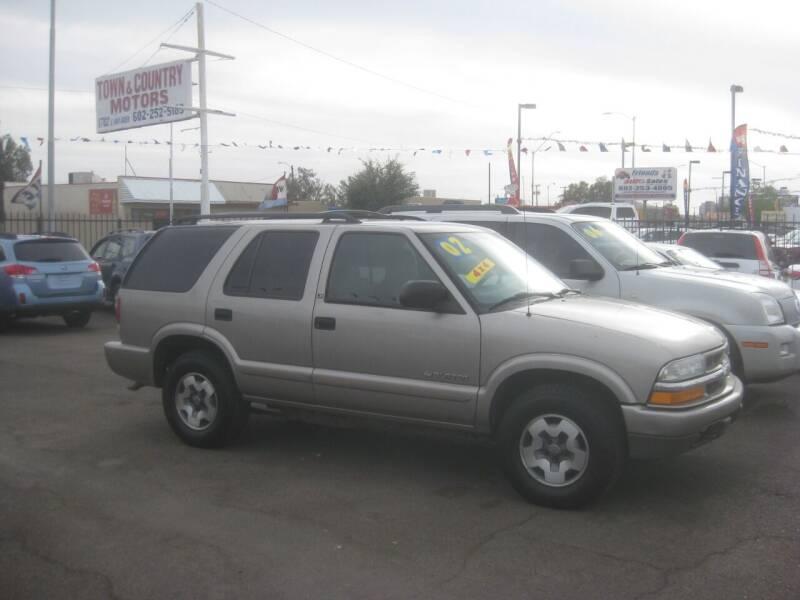 2002 Chevrolet Blazer for sale at Town and Country Motors - 1702 East Van Buren Street in Phoenix AZ