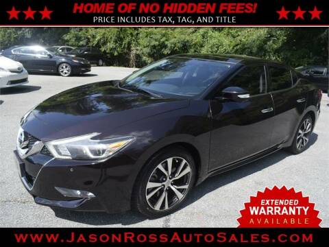 2016 Nissan Maxima for sale at Jason Ross Auto Sales in Burlington NC