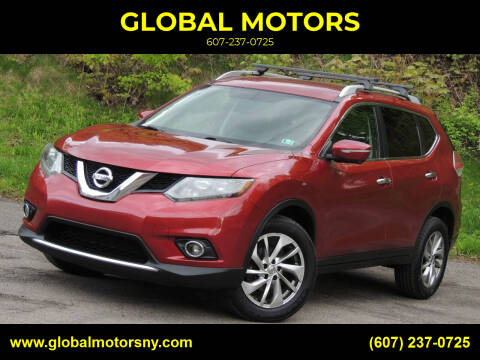 2014 Nissan Rogue for sale at GLOBAL MOTORS in Binghamton NY