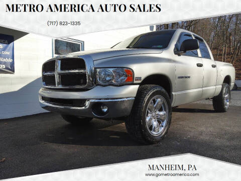 2005 Dodge Ram Pickup 1500 for sale at METRO AMERICA AUTO SALES of Manheim in Manheim PA