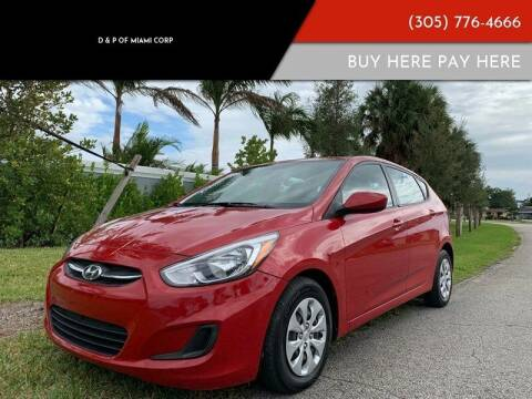 2016 Hyundai Accent for sale at D & P OF MIAMI CORP in Miami FL