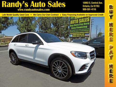 2018 Mercedes-Benz GLC for sale at Randy's Auto Sales in Ontario CA