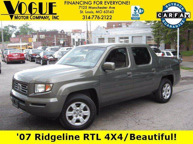 2007 Honda Ridgeline for sale at Vogue Motor Company Inc in Saint Louis MO