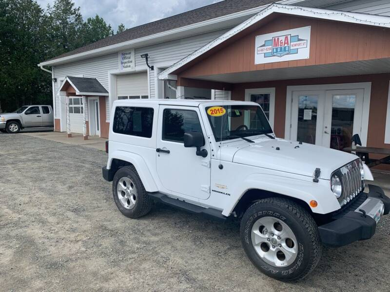2015 Jeep Wrangler for sale at M&A Auto in Newport VT