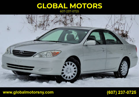 2002 Toyota Camry for sale at GLOBAL MOTORS in Binghamton NY