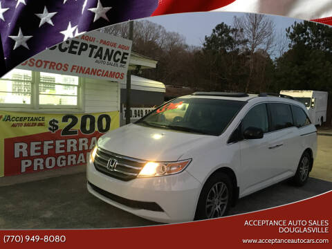 2012 Honda Odyssey for sale at Acceptance Auto Sales Douglasville in Douglasville GA