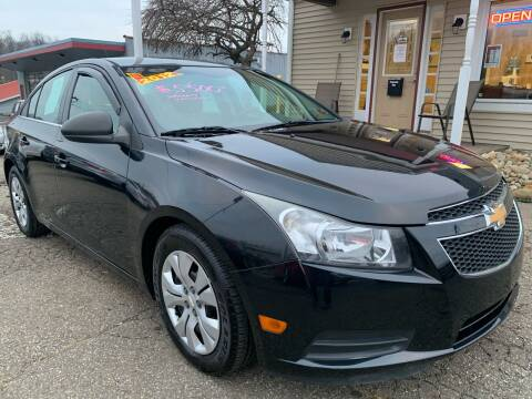 2012 Chevrolet Cruze for sale at G & G Auto Sales in Steubenville OH