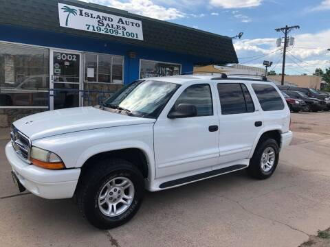2002 Dodge Durango for sale at Island Auto Sales in Colorado Springs CO
