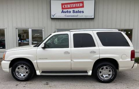 2003 Cadillac Escalade for sale at Certified Auto Sales in Des Moines IA