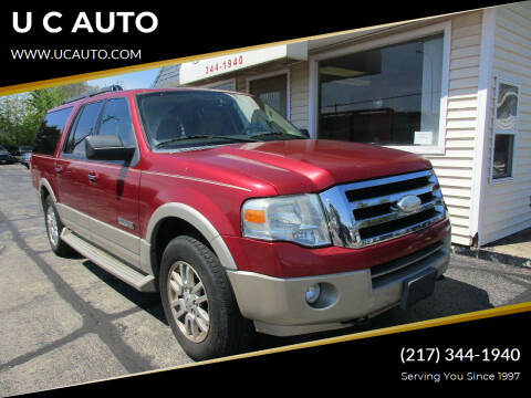 2008 Ford Expedition EL for sale at U C AUTO in Urbana IL