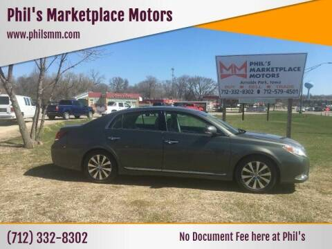 2011 Toyota Avalon for sale at Phil's Marketplace Motors in Arnolds Park IA