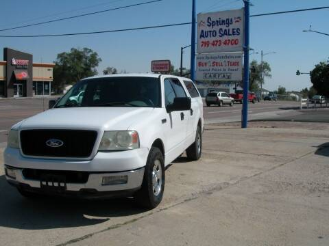 2004 Ford F-150 for sale at Springs Auto Sales in Colorado Springs CO