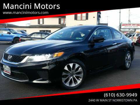 2013 Honda Accord for sale at Mancini Motors in Norristown PA