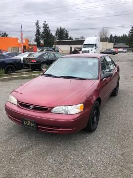 1999 Toyota Corolla for sale at MK MOTORS in Marysville WA