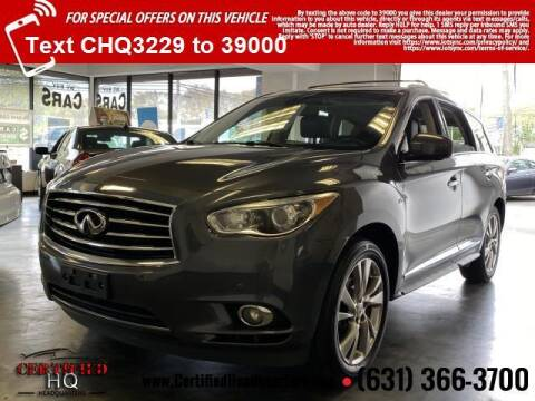 2014 Infiniti QX60 for sale at CERTIFIED HEADQUARTERS in St James NY