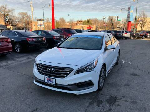 2015 Hyundai Sonata for sale at Bibian Brothers Auto Sales & Service in Joliet IL