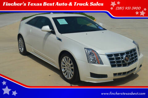 2013 Cadillac CTS for sale at Fincher's Texas Best Auto & Truck Sales in Tomball TX