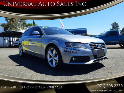 2010 Audi A4 for sale at Universal Auto Sales Inc in Salem OR