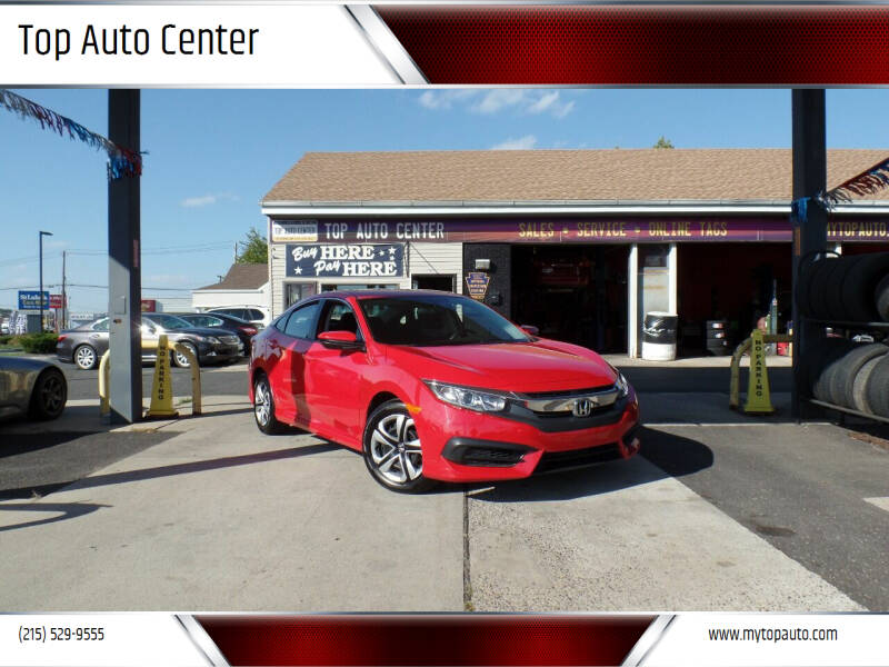 2016 Honda Civic for sale at Top Auto Center in Quakertown PA