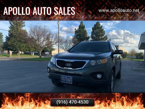 2012 Kia Sorento for sale at APOLLO AUTO SALES in Sacramento CA