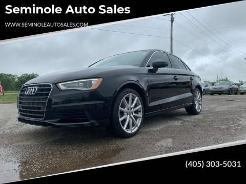 2015 Audi A3 for sale at Seminole Auto Sales in Seminole OK