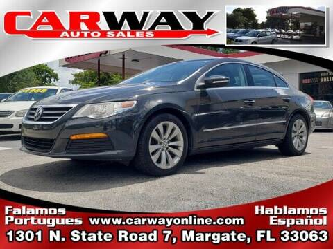 2012 Volkswagen CC for sale at CARWAY Auto Sales in Margate FL