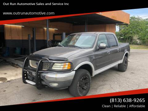 2002 Ford F-150 for sale at Out Run Automotive Sales and Service Inc in Tampa FL