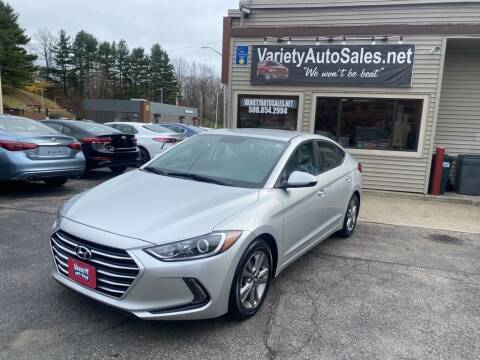 2017 Hyundai Elantra for sale at Variety Auto Sales in Worcester MA