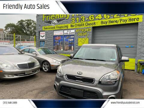 2012 Kia Soul for sale at Friendly Auto Sales in Detroit MI