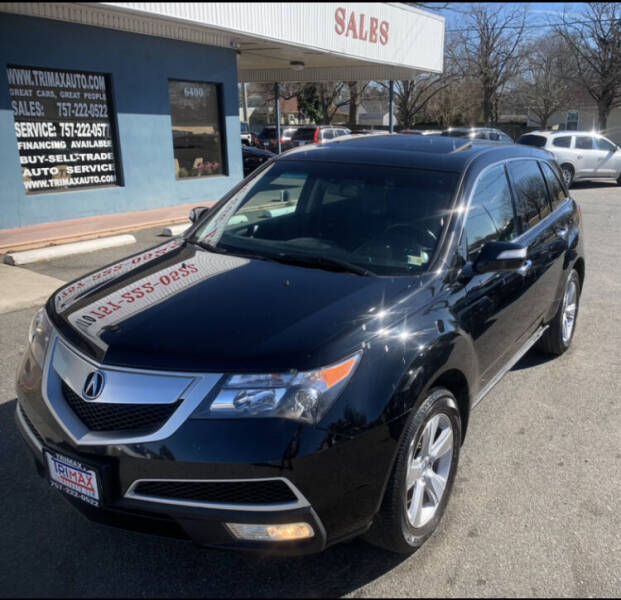 2011 Acura MDX for sale at Trimax Auto Group in Norfolk VA