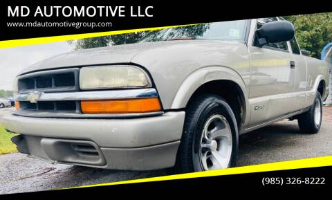 2000 Chevrolet S-10 for sale at MD AUTOMOTIVE LLC in Slidell LA