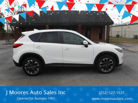 2016 Mazda CX-5 for sale at J Moores Auto Sales Inc in Kinston NC