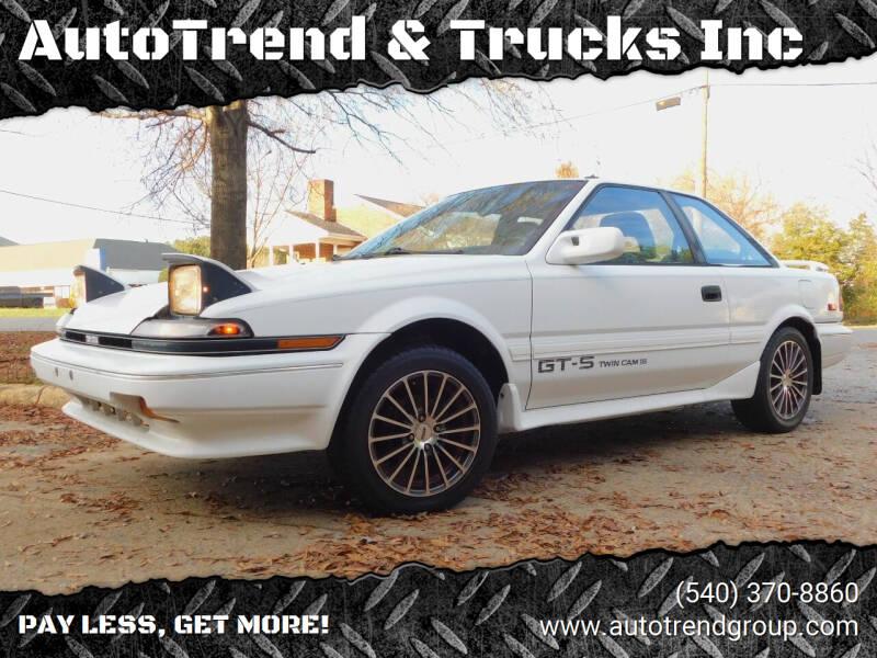 1989 Toyota Corolla for sale at AutoTrend & Trucks Inc in Fredericksburg VA