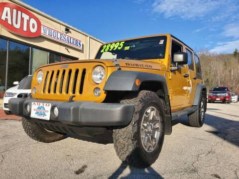 2014 Jeep Wrangler Unlimited for sale at Auto Wholesalers Of Hooksett in Hooksett NH