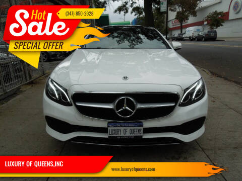 2018 Mercedes-Benz E-Class for sale at LUXURY OF QUEENS,INC in Long Island City NY
