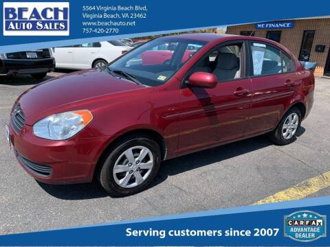2010 Hyundai Accent for sale at Beach Auto Sales in Virginia Beach VA