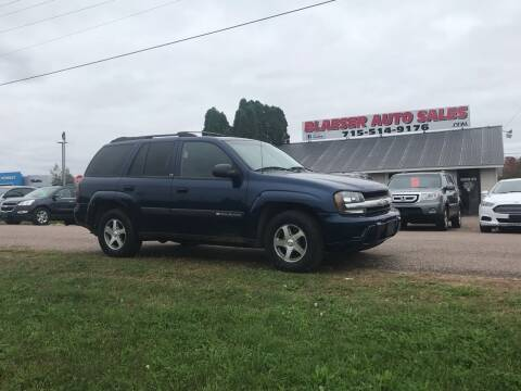 2004 Chevrolet TrailBlazer for sale at BLAESER AUTO LLC in Chippewa Falls WI