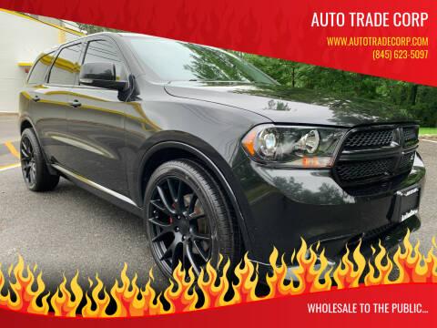 2012 Dodge Durango for sale at AUTO TRADE CORP in Nanuet NY