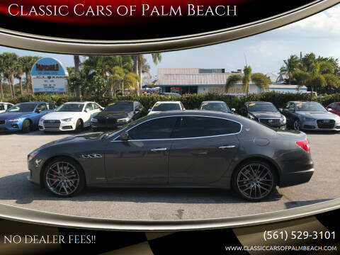 2018 Maserati Quattroporte for sale at Classic Cars of Palm Beach in Jupiter FL