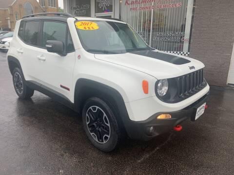 2017 Jeep Renegade for sale at KUHLMAN MOTORS in Maquoketa IA