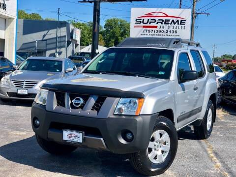 2008 Nissan Xterra for sale at Supreme Auto Sales in Chesapeake VA